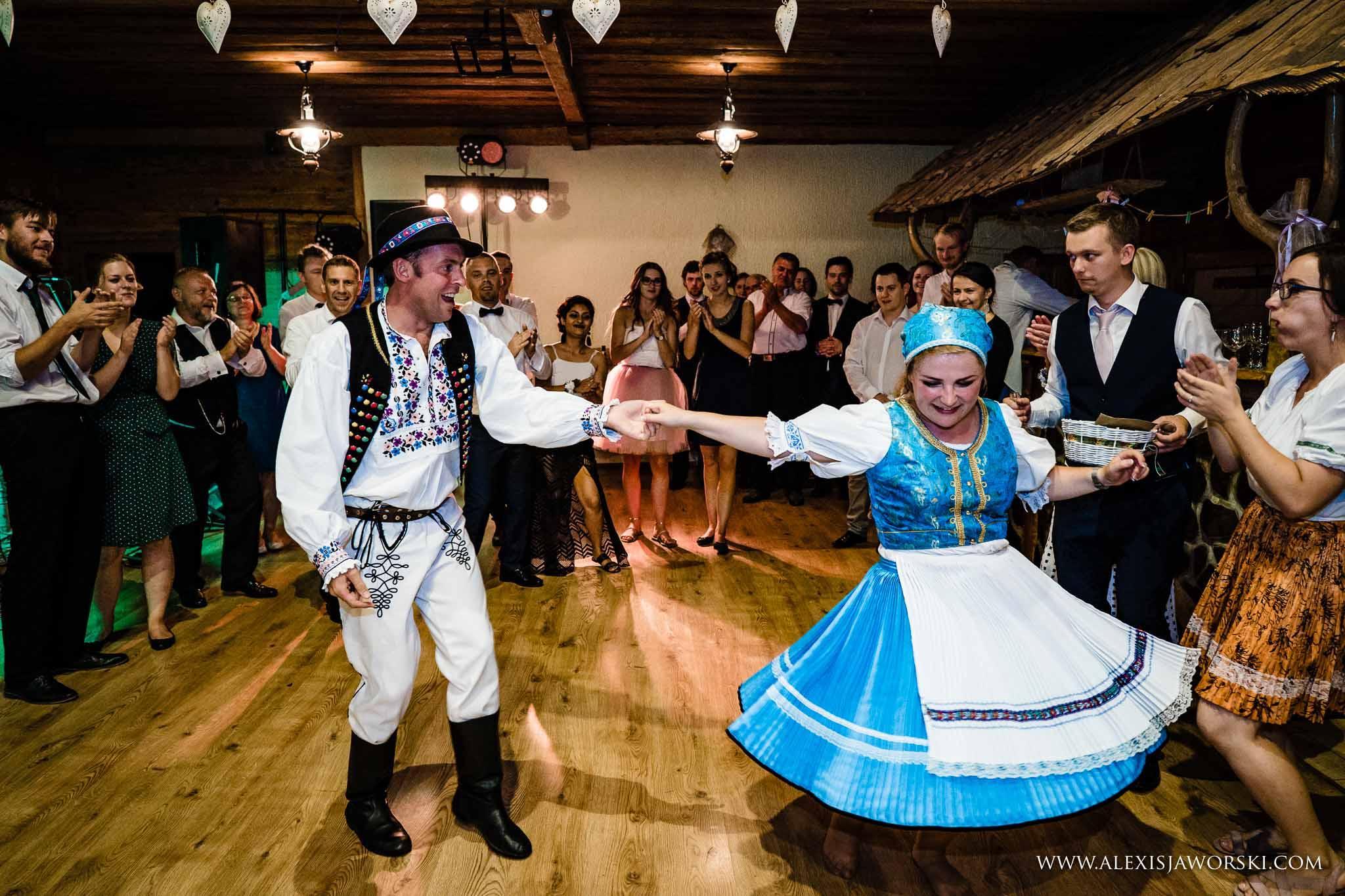 groom dancing with bride