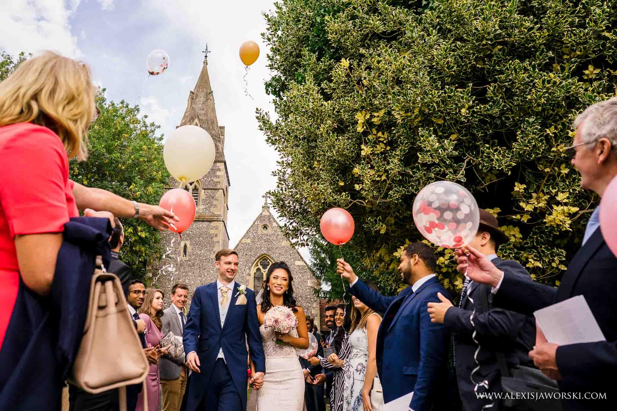 ballon release at church
