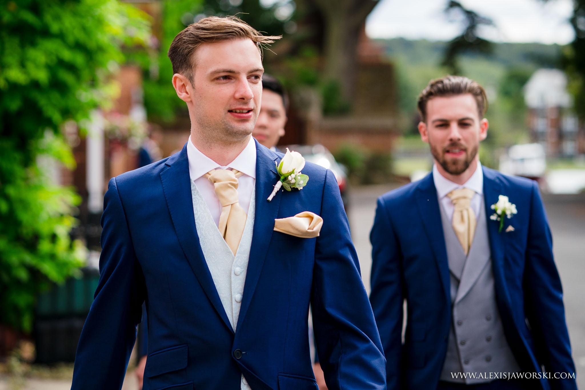 groom arriving