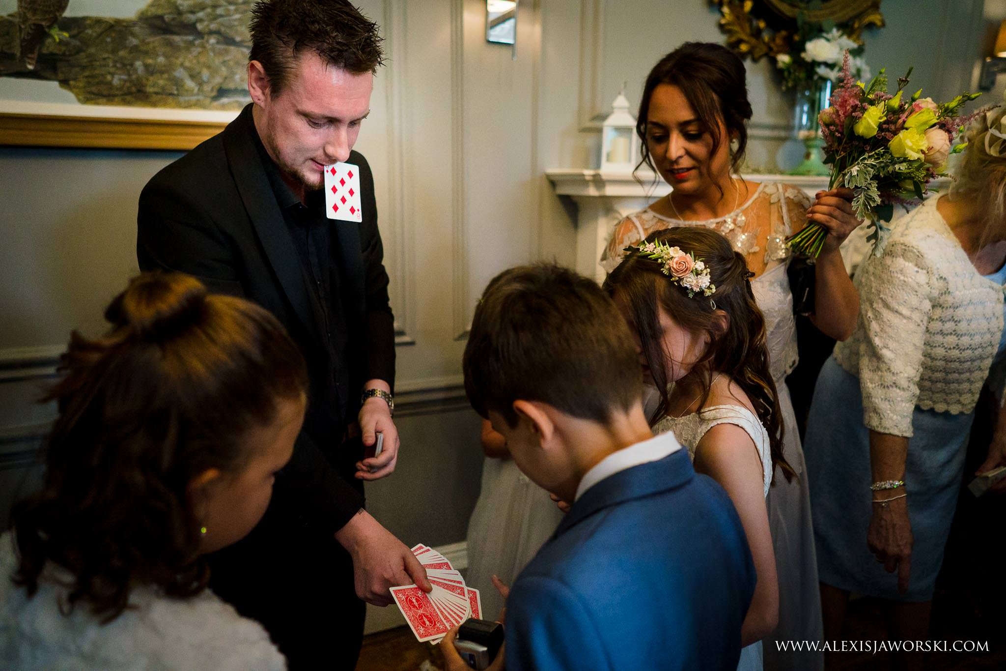 magician performing for children
