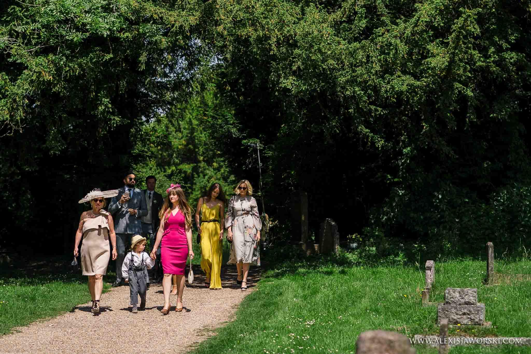 guests arriving at venue
