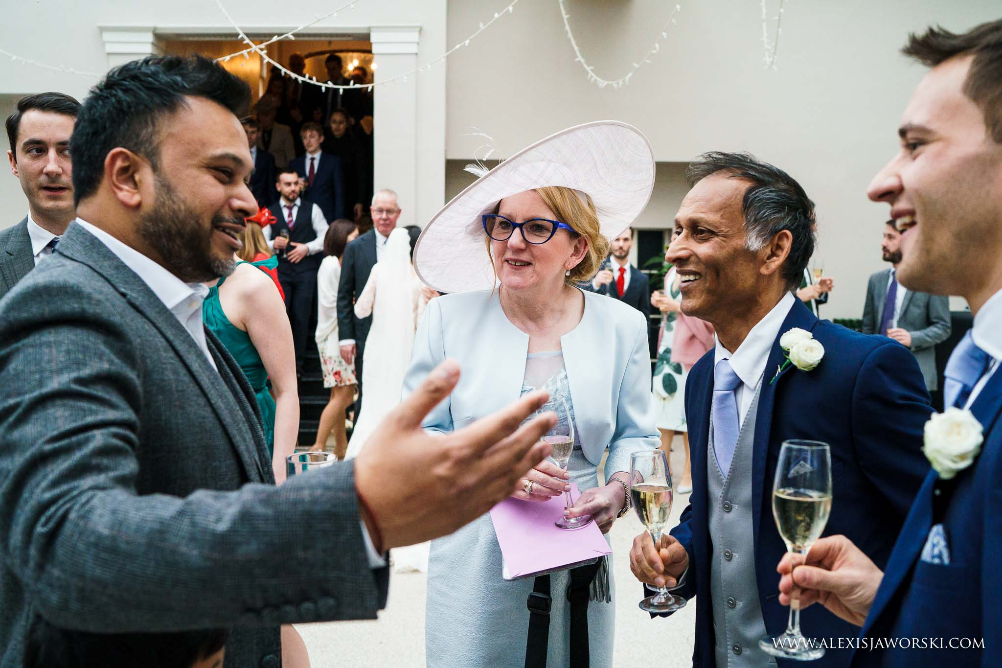 guests during drinks reception