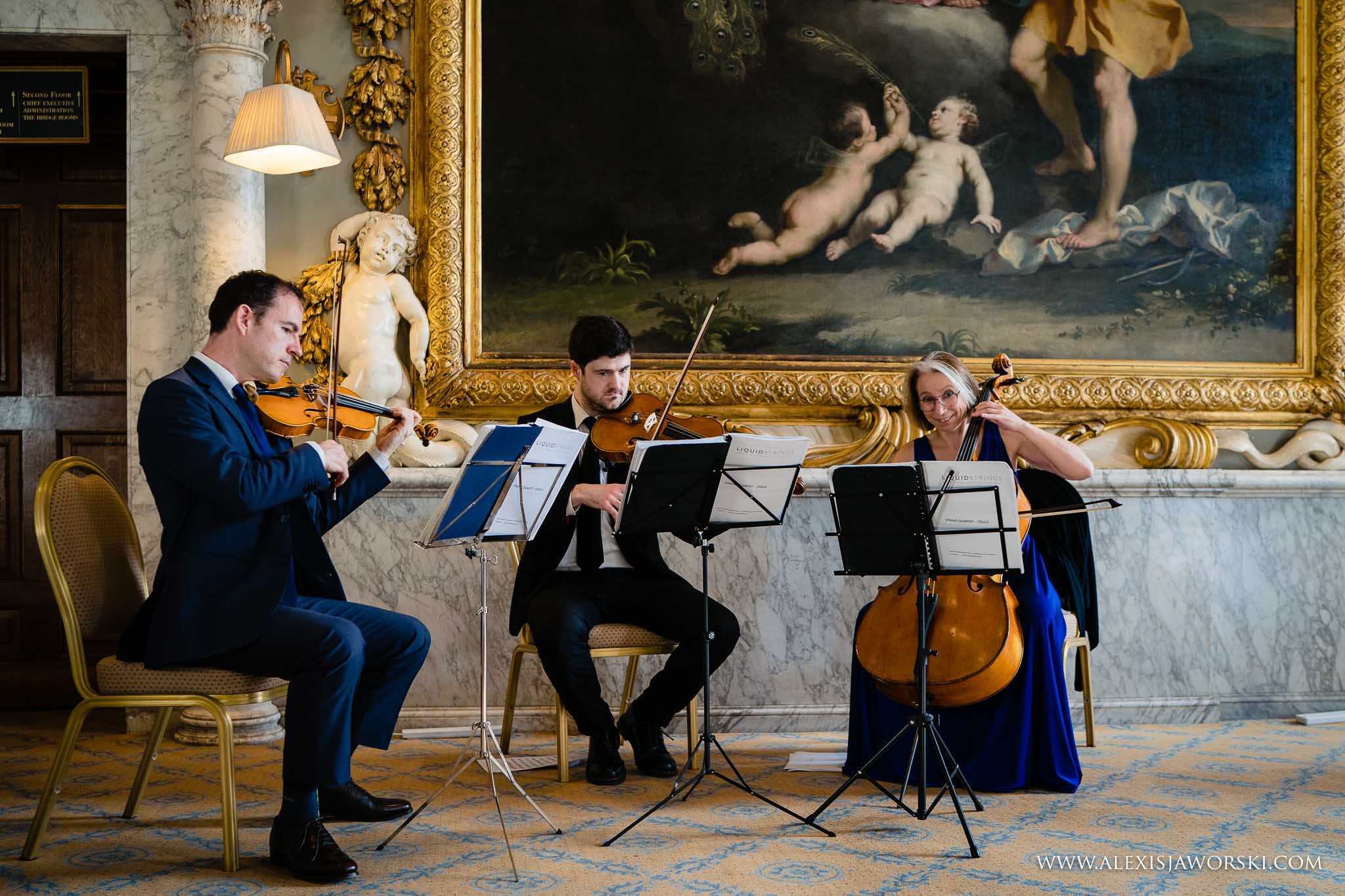 classical trio playing