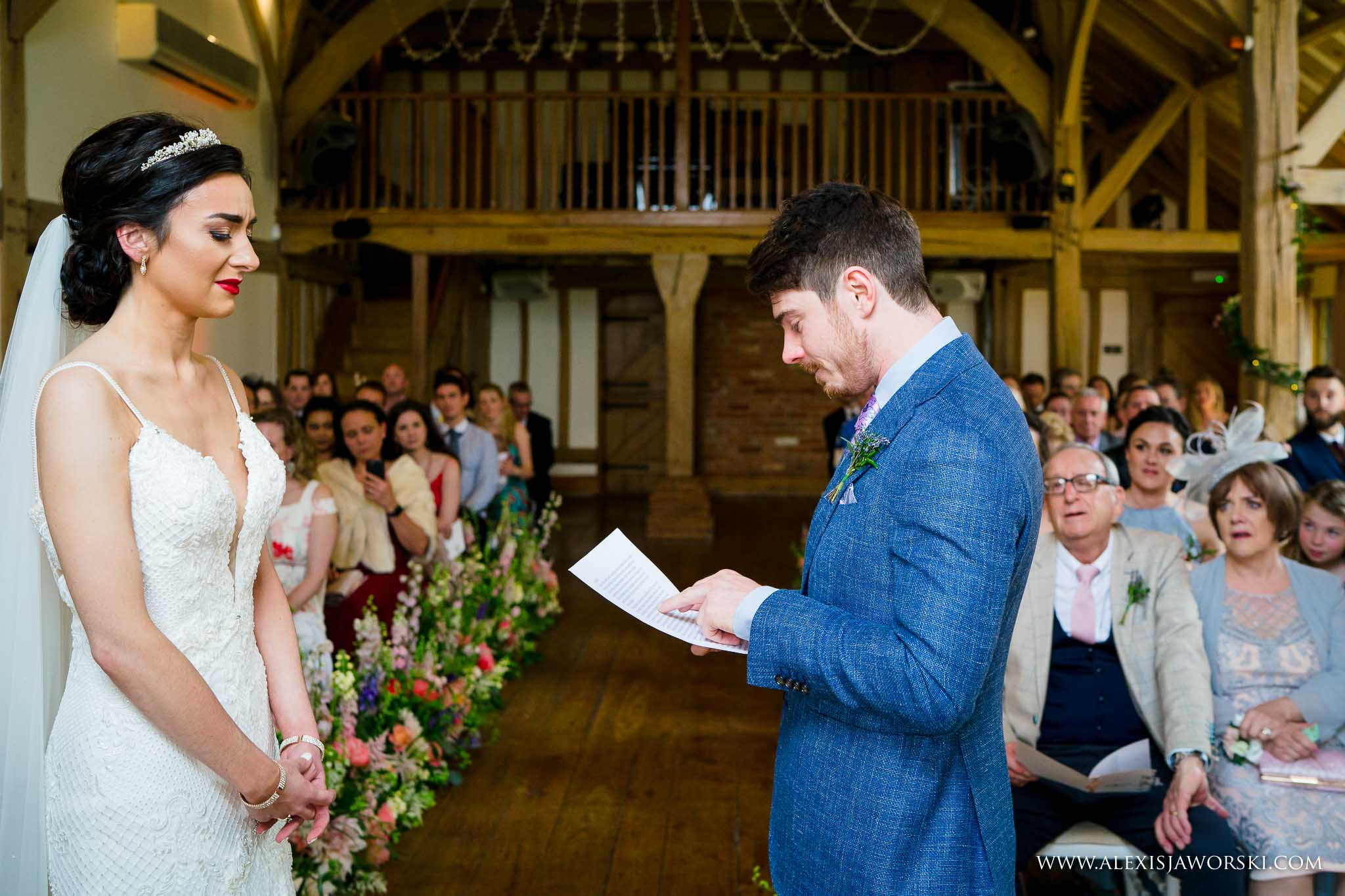 personal vows during the ceremony