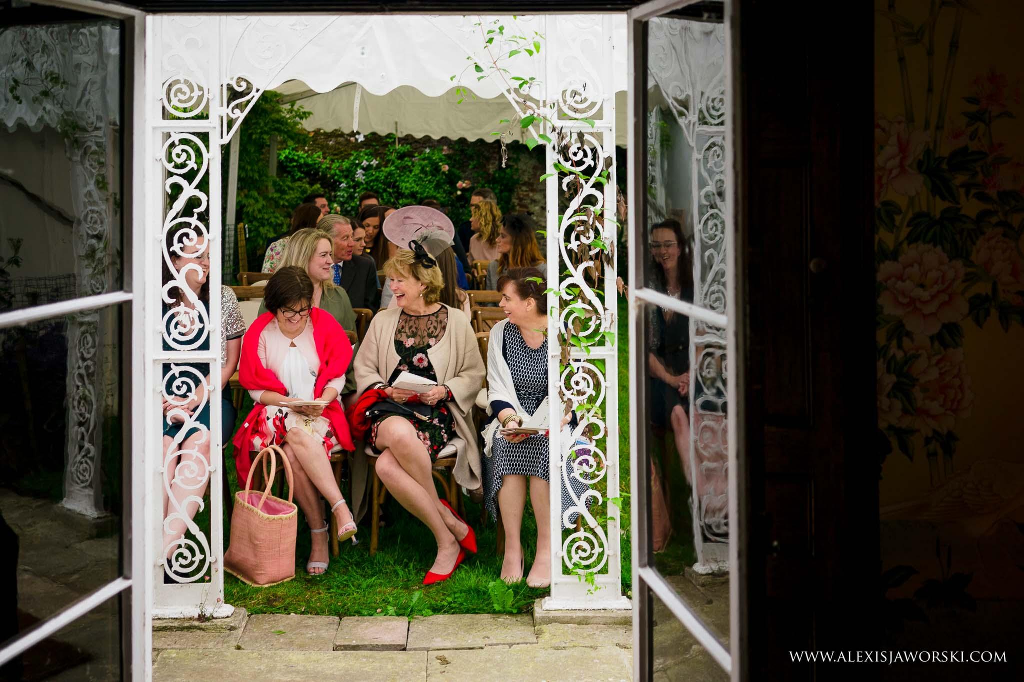 guests looking into venue