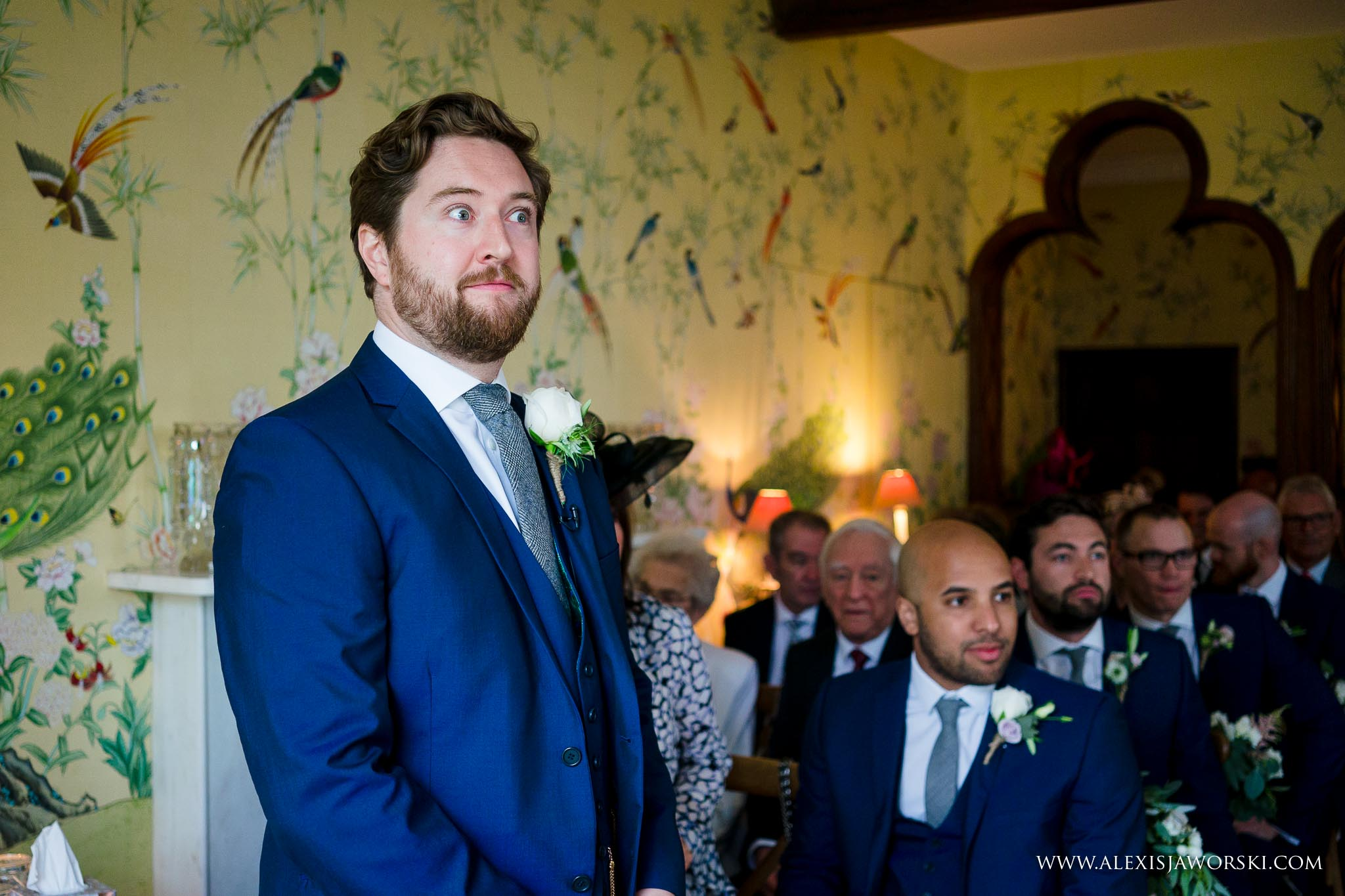groom wiaiting for bride