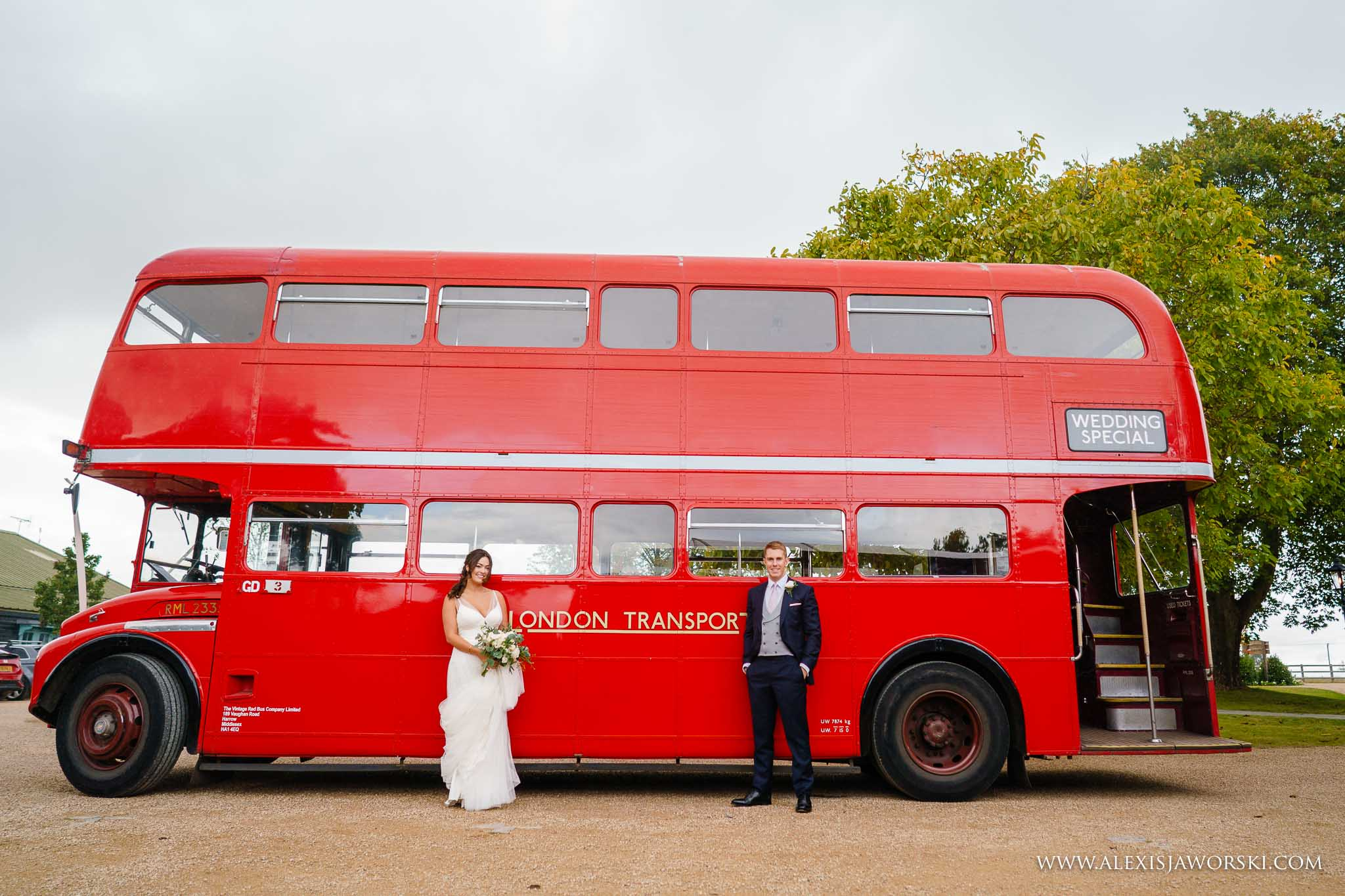 bride and groom by route master